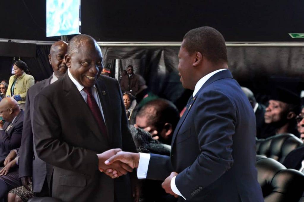 Le Président de la République SEM Faure Essozimna Gnassingbé a assisté, ce 25 mai 2019 au Loftus Versfeld stadium de Prétoria en Afrique du Sud; à la cérémonie d'investiture du Président Cyril Ramaphosa réélu après la victoire de son parti aux élections législatives du 8 mai dernier