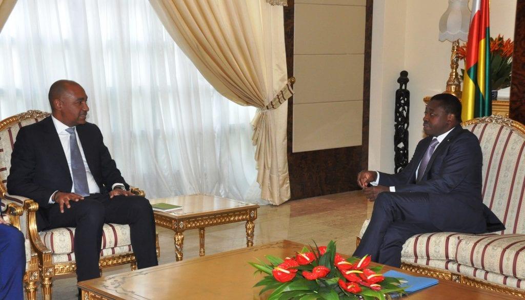 Le Président de la République SEM Faure Essozimna Gnassingbé a reçu, ce 12 juin 2019, une délégation d'Emerging Capital Partners (ECP) conduite par son co-directeur, M. Vincent Le Guennou
