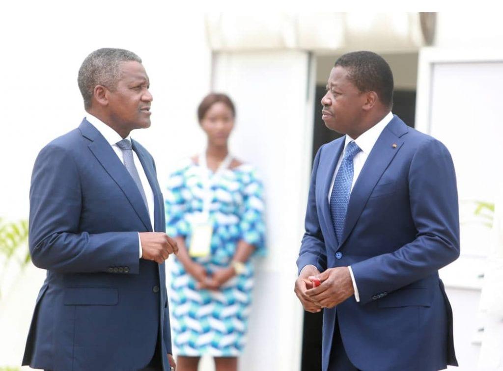 Présent aux côtés du chef de l'Etat SEM Faure Essozimna Gnassingbé, au premier forum économique Togo-Union européenne, la première fortune africaine a apprécié les potentialités économiques de notre pays.
