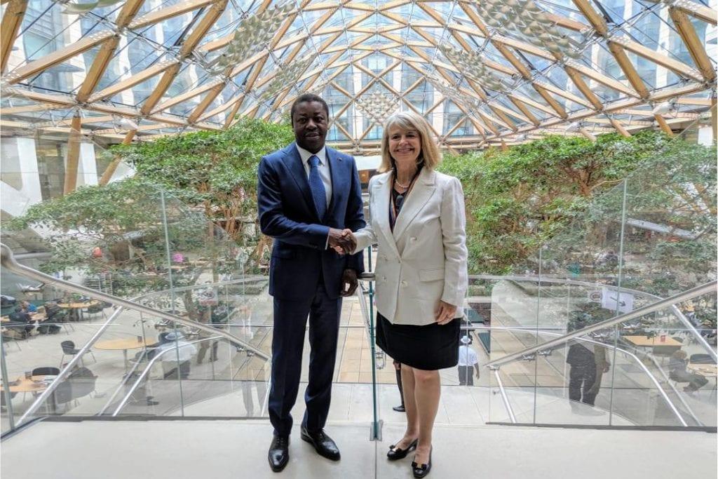 Le chef de l'Etat SEM Faure Essozimna Gnassingbé s'est entretenu, ce 04 juin 2019 au palais de Westminster à Londres, avec Mme Harriett Baldwin, ministre britannique en charge des affaires africaines.