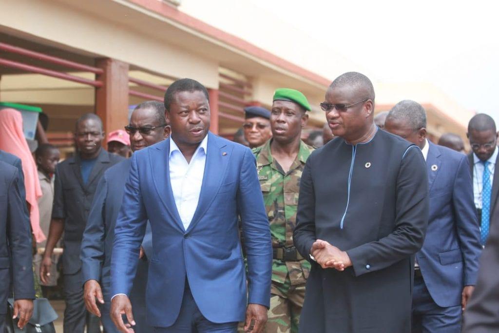 Le chef de l'Etat SEM Faure Essozimna Gnassingbé a présidé, ce 18 juin 2019, la cérémonie de réception du nouveau marché préfectoral d'Elavagnon.