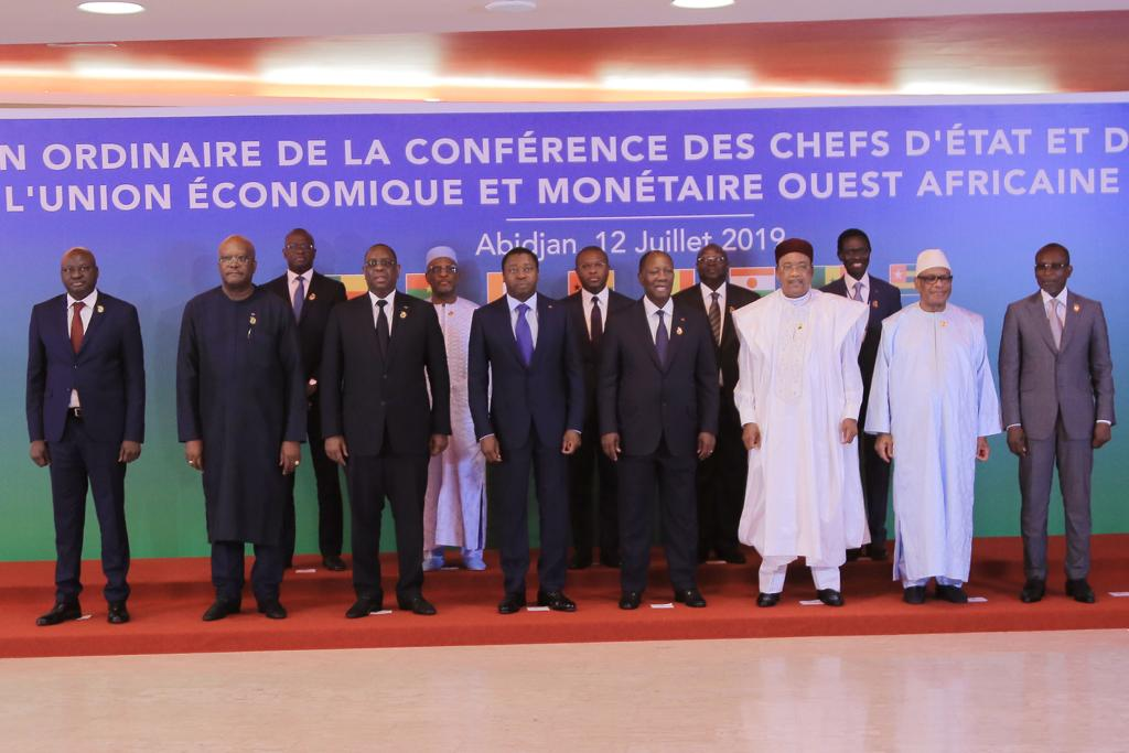La Conférence des chefs d'Etat et de gouvernement de l'Uemoa s'est réunie, ce 12 juillet 2019 à Abidjan en Côte d'Ivoire, en sa 21è session ordinaire.