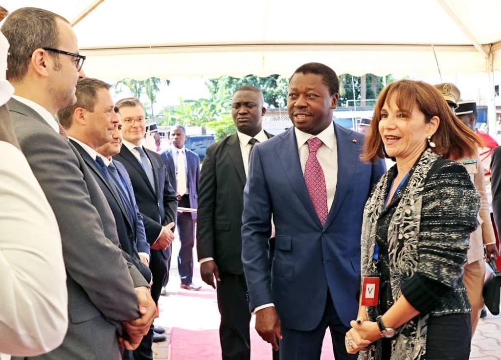 Le chef de l'Etat SEM Faure Essozimna Gnassingbé a procédé ce 08 juillet 2019 à Lomé à la mise en service d'un nouveau Centre de contacts dénommé Majorel Togo.