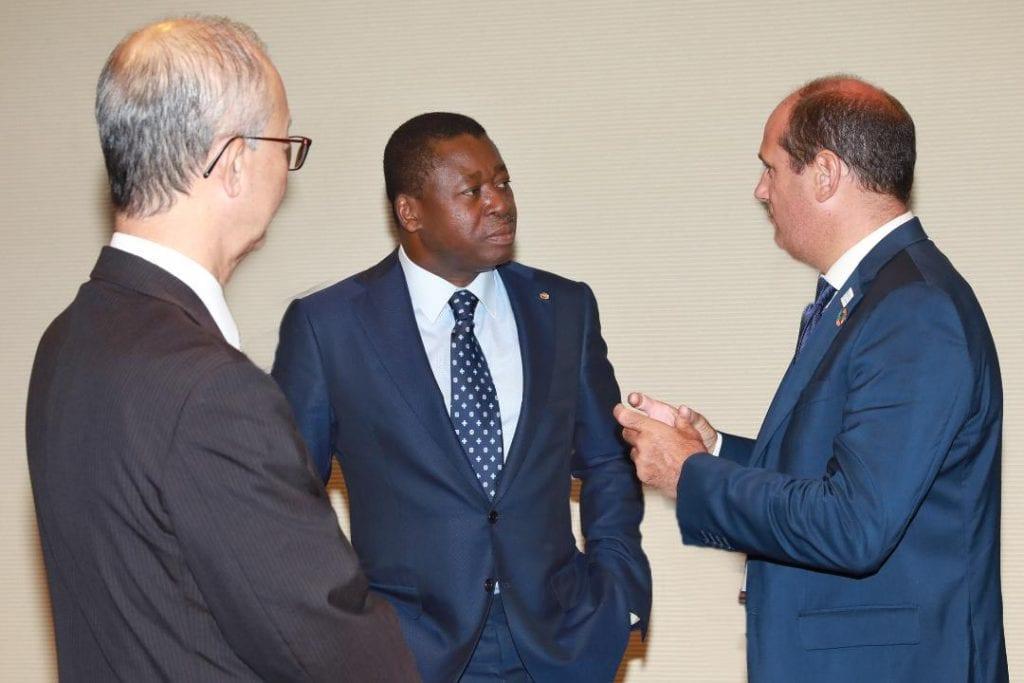 Le Président de la République SEM Faure Essozimna Gnassingbé, en séjour au Japon, dans le cadre de la TICAD7, a reçu en audience ce 28 août 2019, une délégation des opérateurs économiques suivie d'une cérémonie de signature d'un protocole d'accord.