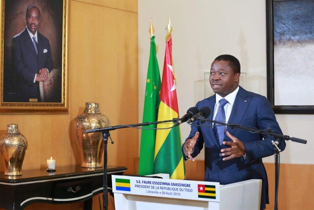 Le Président de la République SEM Faure Essozimna Gnassingbé a effectué, ce 09 août 2019, une visite de travail à Libreville au Gabon.