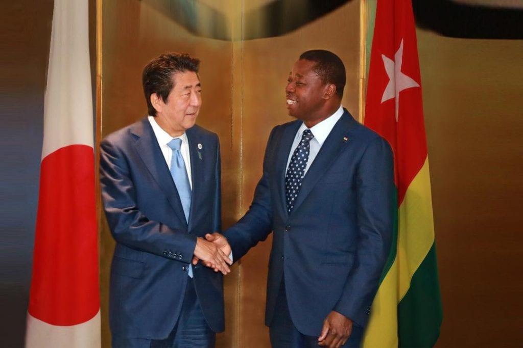 En marge des travaux de la TICAD7, le Président de la République SEM Faure Essozimna Gnassingbé s'est entretenu avec le Premier ministre japonais Shinzō Abe.