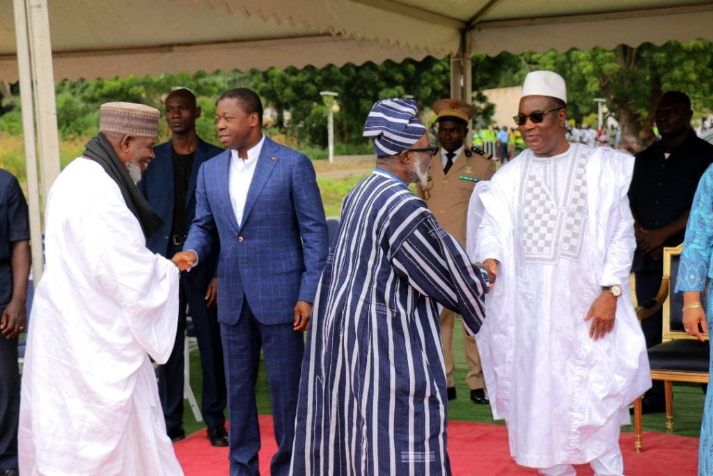 Le Président de la République SEM Faure Essozimna Gnassingbé a assisté, ce 11 août 2019 à Lomé, sur le terrain du Lycée de Tokoin, à la grande prière musulmane marquant la célébration de l'Aïd El-Kébir.