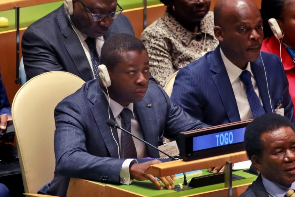 Le Président de la République SEM Faure Essozimna Gnassingbé a pris part, ce 24 septembre 2019 à New York, à la séance d'ouverture de la 74è session annuelle de l'Assemblée générale des Nations Unies.