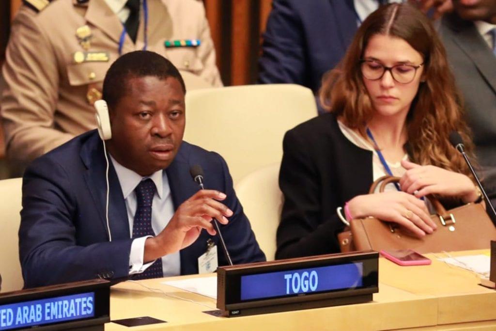Le chef de l'Etat SEM Faure Essozimna Gnassingbé a participé, ce 26 septembre 2019 à New York, à une réunion de haut niveau sur les défis et menaces sur la consolidation de la paix au Burkina Faso.