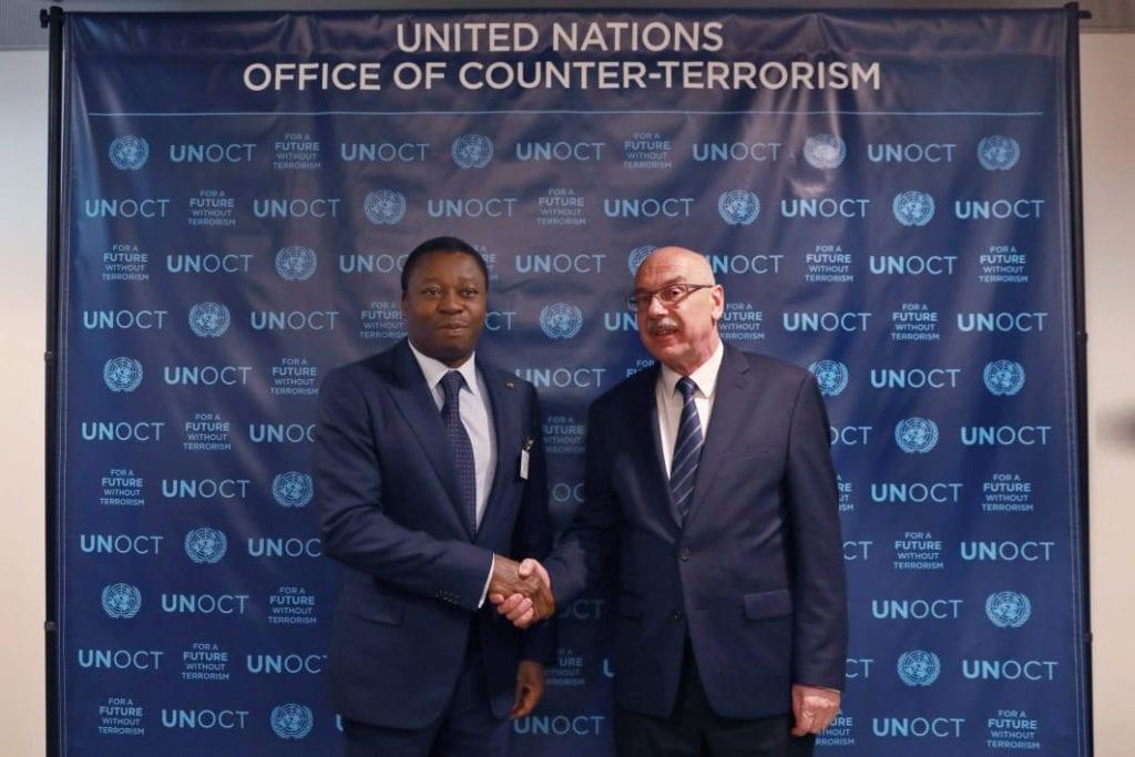 la réunion de haut niveau sur les défis et menaces sur la consolidation de la paix au Burkina Faso, le chef de l'Etat SEM Faure Essozimna Gnassingbé s'est entretenu avec le Secrétaire général adjoint et Directeur exécutif de l'UNOCT, M. Vladmir Voronkov.