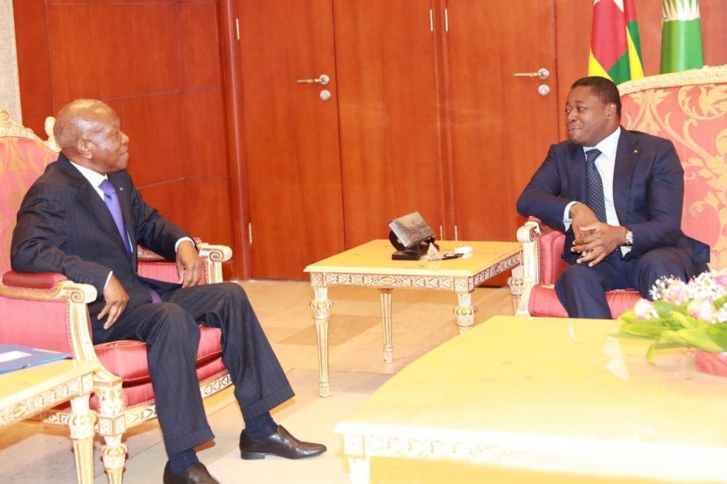 Le Président de la République SEM Faure Essozimna Gnassingbé a échangé, ce 08 octobre 2019 à Lomé, avec à M. Patrice Kouamé, Secrétaire exécutif du Conseil de l'Entente.