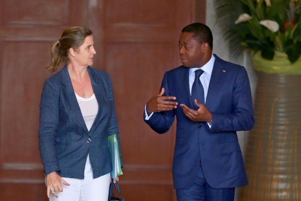 Le Président de la République, SEM Faure Essozimna Gnassingbé a échangé, ce 07 octobre 2019 à Lomé, avec la nouvelle Directrice des opérations de la Banque mondiale pour le Togo, Mme Coralie Gevers.