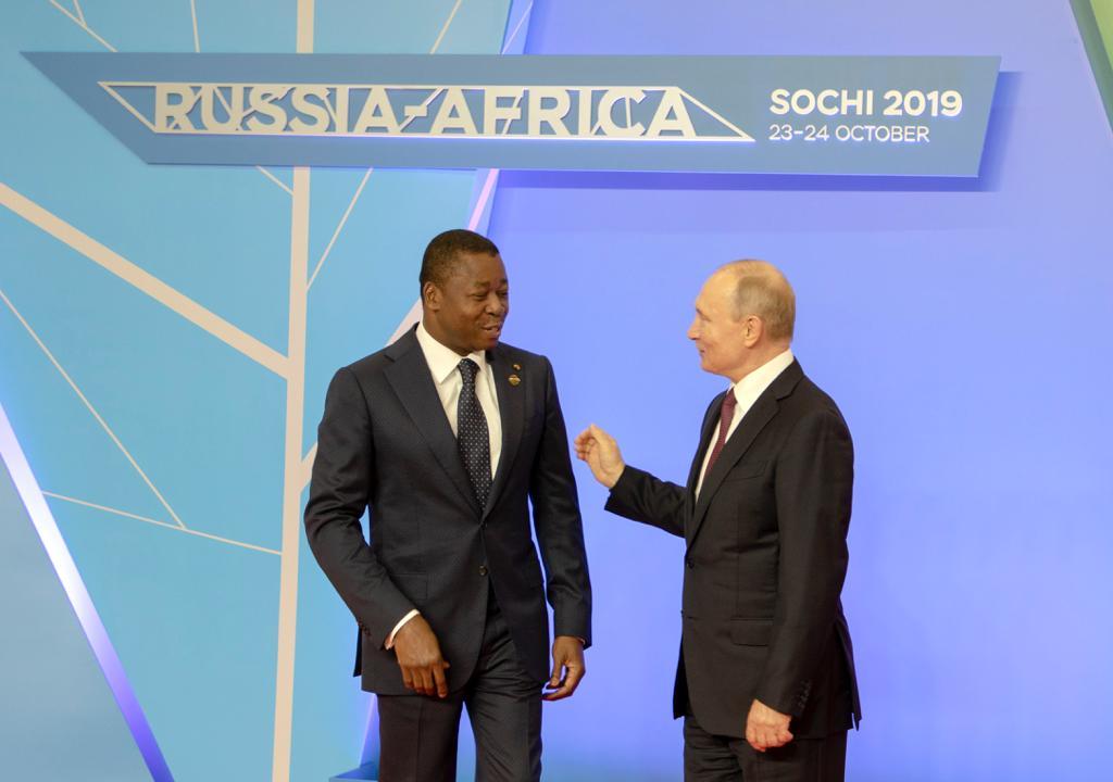 Faure Gnassingbé et Vladmir Poutine au sommet Russie-Afrique