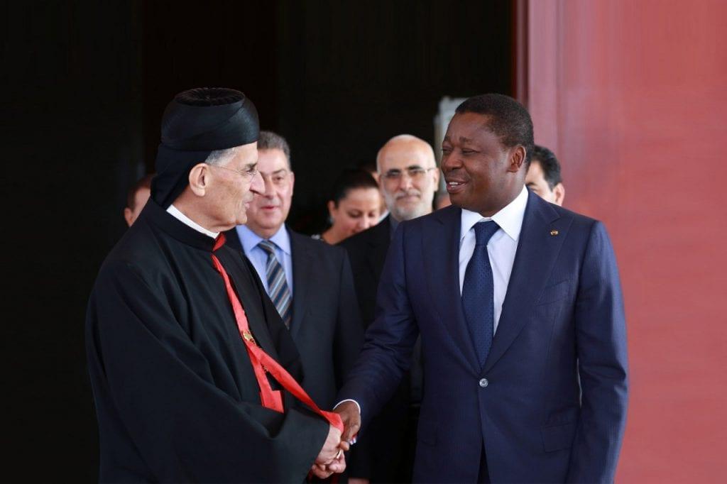 Le Président de la République SEM Faure Essozimna Gnassingbé a reçu, ce 16 octobre 2019 à Lomé, le patriarche cardinal libanais Bachara Boutros Raï de l'église maronite.