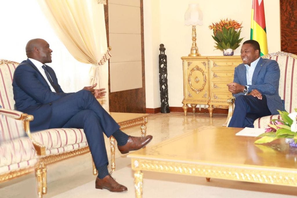 Le Président de la République SEM Faure Essozimna Gnassingbé s'est entretenu, ce 1er novembre 2019, avec M. Makhtar Diop, Vice-président de la Banque mondiale pour l'Afrique, en visite de travail au Togo.