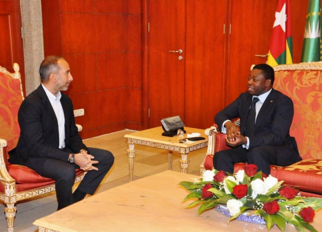 Le chef de l'Etat SEM Faure Essozimna Gnassingbé s'est entretenu, ce 06 novembre 2019 à Lomé, avec le PDG du consortium Axian, M. Hassanein Hiridjee.