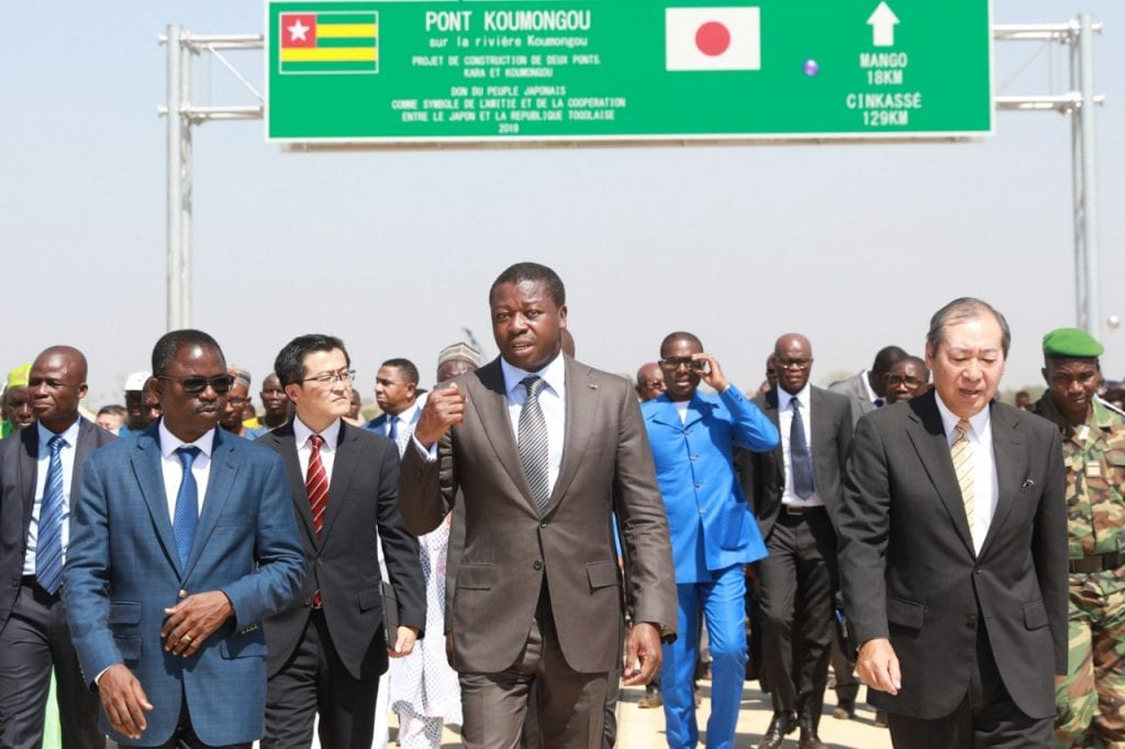 Inauguration des ponts sur Koumongou et Kara