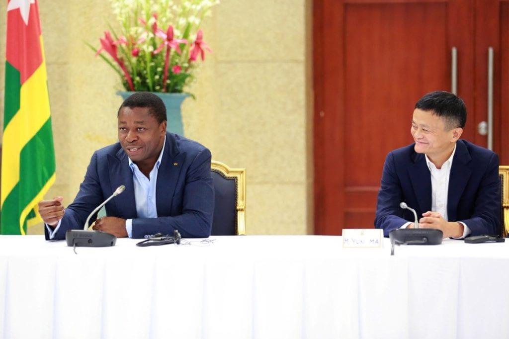 Jack Ma en séance de travail avec Faure Gnassingbé