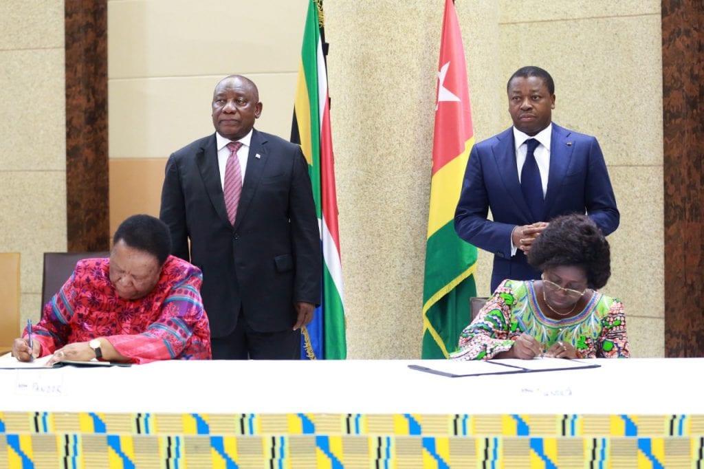 Coopération sud-sud : Un nouveau partenariat entre le Togo et l'Afrique du Sud