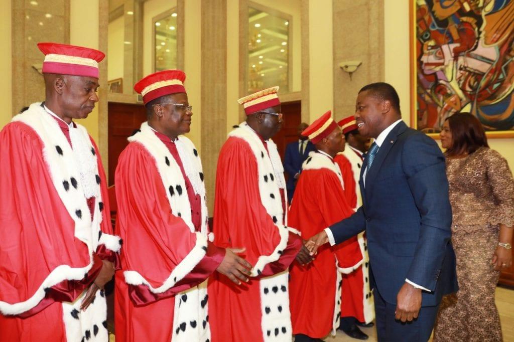réformes institutionnelle, Prestation de serment de la Cour Constitutionnelle