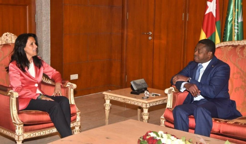 Le Président de la République SEM Faure Essozimna Gnassingbé a reçu ce 22 janvier 2020 la 3è Vice-présidente de la Commission de développement du parlement de l'Union Européenne, Mme Chrysoula Zacharopoulou.