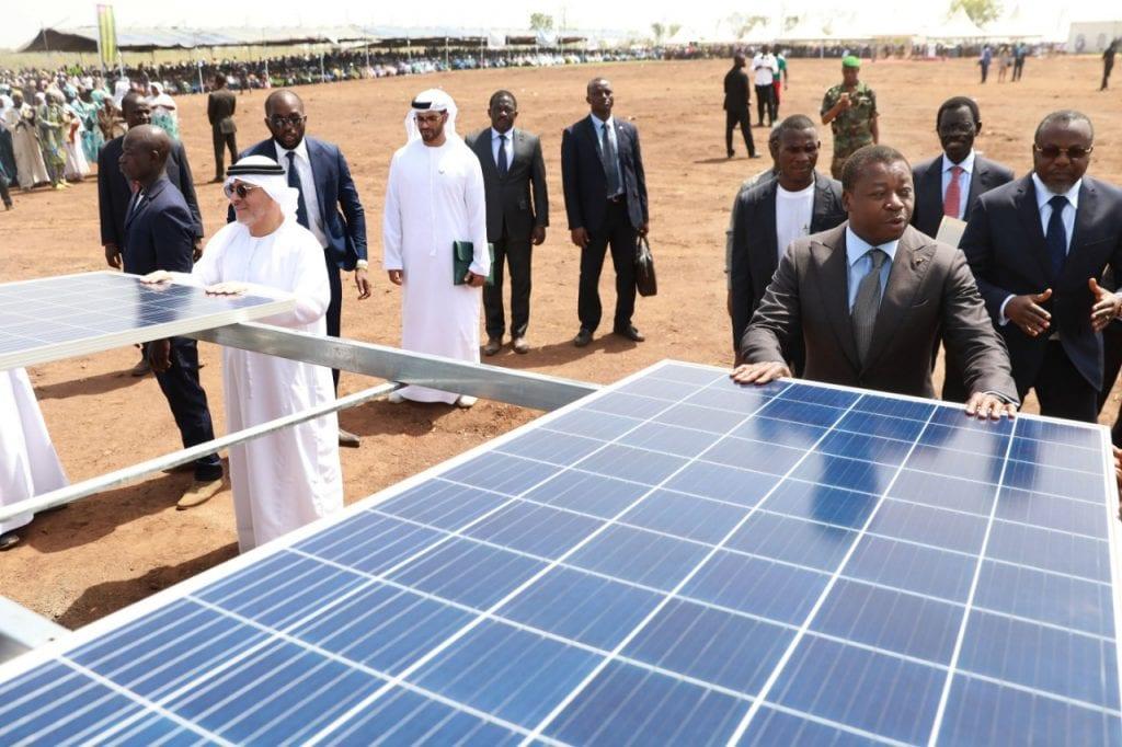 Le Président de la République SEM Faure Essozimna Gnassingbé a procédé, ce 03 février 2020 à Blitta (région centrale), au lancement officiel des travaux de construction d'une centrale solaire photovoltaïque.