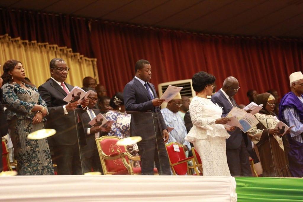 Le chef de l'Etat SEM Faure Essozimna Gnassingbé a assisté, ce 5 février 2020 au palais des Congrès de Kara (préfecture de la Kozah), aux offices religieux œcuméniques marquant le 15è anniversaire du rappel à Dieu du Père de la Nation, feu Général Gnassingbé Eyadéma.