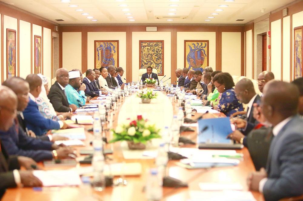 Le chef de l'Etat SEM Faure Essozimna Gnassingbé a présidé, ce 5 mars 2020, le premier Conseil des ministres de l'année.