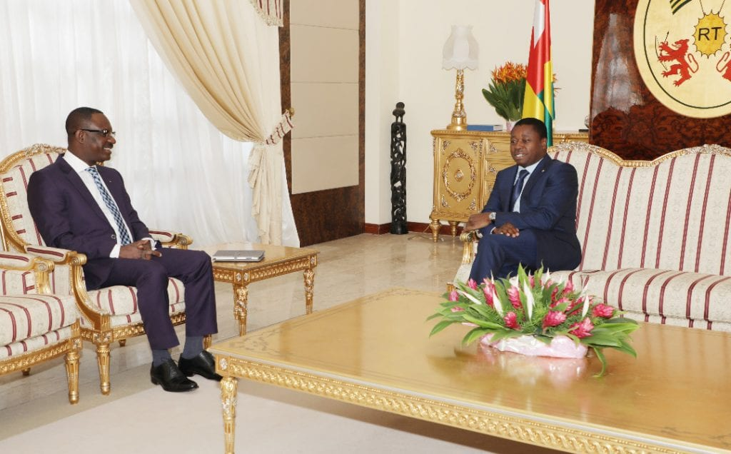 Le chef de l'Etat SEM Faure Essozimna Gnassingbé s'est entretenu, ce 10 mars 2020 au palais de la Présidence de la République, avec le nouveau président de la Banque d'investissement et de développement de la Cedeao (BIDC), M. George Agyekum Nana Donkor.