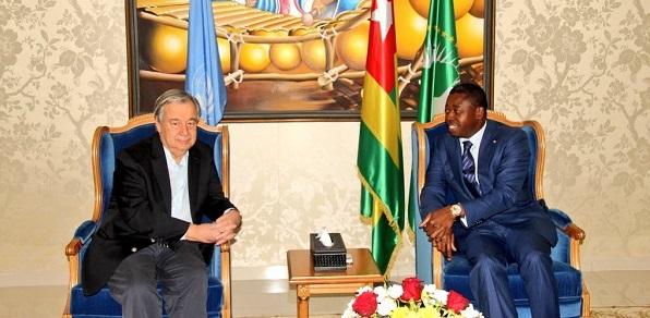 Les Nations unies félicitent le chef de l'Etat Faure Gnassingbé pour son investiture à la magistrature suprême