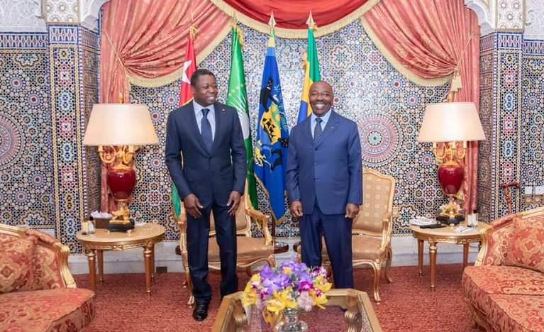 Le Président de la République SEM Faure Essozimna Gnassingbé a effectué ce 24 août 2020 une visite de travail et d'amitié à Libreville au Gabon. Au cours de ce voyage, le chef de l'Etat et son homologue gabonais SEM Ali Bongo Ondimba se sont entretenus, avec une convergence de vue, sur les questions d'ordre bilatéral et continental.