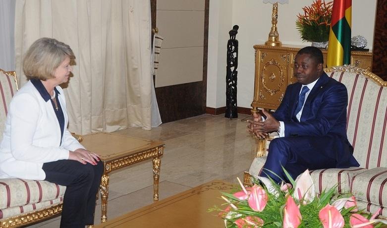 La cheffe de la Délégation de l'Union européenne (UE) au Togo, Mme Cristina Martins Barreira, en fin de mission, a fait ce 28 août 2020 ses adieux au Président de la République SEM Faure Essozimna Gnassingbé, au cours d'une audience.