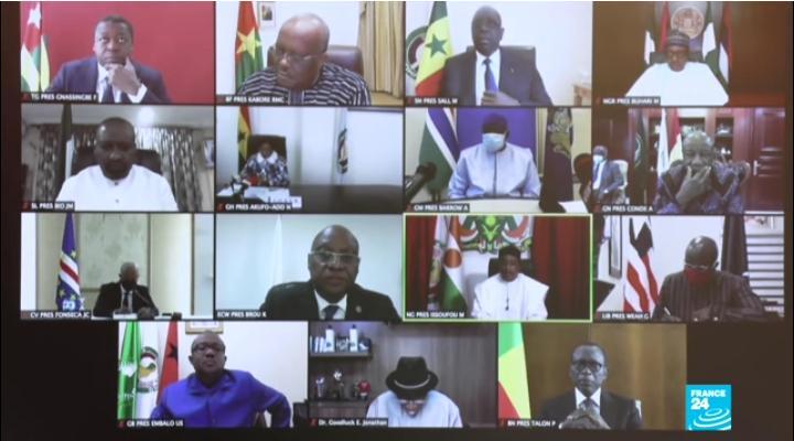 Les grandes décisions du sommet extraordinaire de la CEDEAO sur le Mali Le Président de la République SEM Faure Essozimna Gnassingbé et ses pairs de la CEDEAO se sont réunis, ce 20 août 202 en session extraordinaire, par visioconférence, sur la crise sociopolitique au Mali.