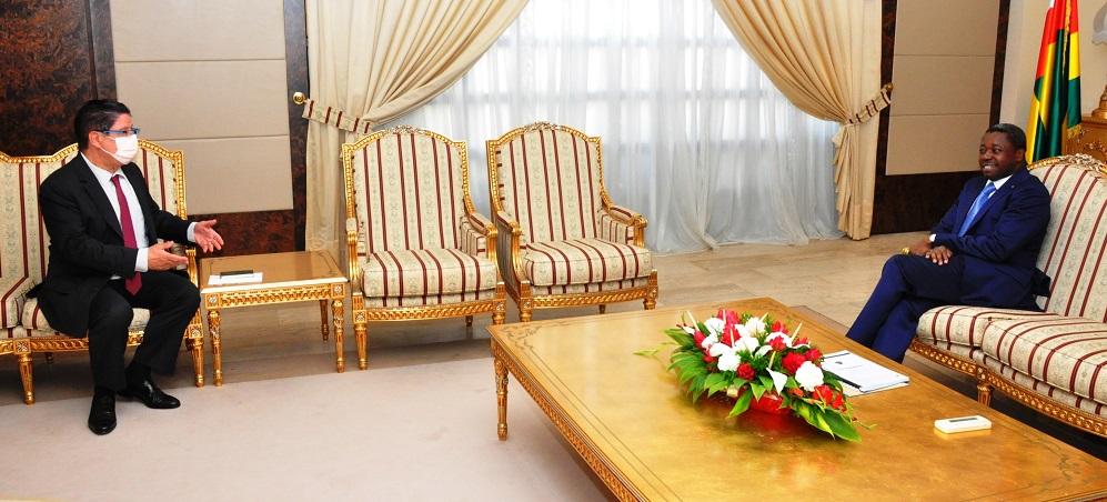 L'ambassadeur de France au Togo, Monsieur Marc Vizy, en fin de mission, a fait ce 21 septembre 2020 ses adieux au Président de la République, SEM Faure Gnassingbé, au cours d'une audience. Le diplomate français a exprimé sa reconnaissance au chef de l'Etat pour le soutien et l'appui qu'il a eu au cours de sa mission et s'est félicité du renforcement des relations de coopération franco-togolaise