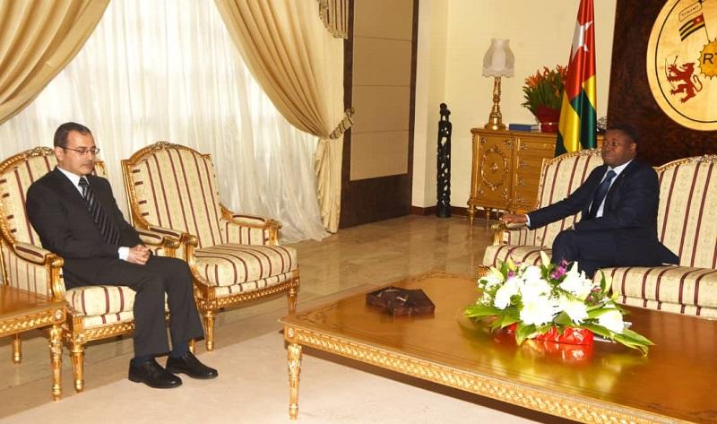 Le Président de la République, SEM Faure Essozimna Gnassingbé s'est entretenu ce 05 novembre 2020 avec l'ambassadeur de la République arabe d'Egypte, Dr. Hossam Hussein, en fin de mission dans notre pays.