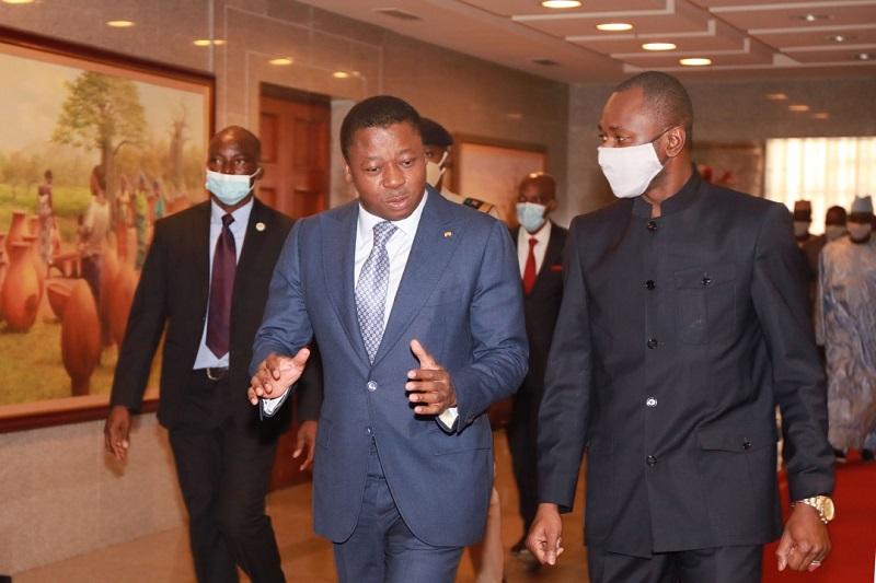 Le Chef de l'Etat, SEM Faure Essozimna Gnassingbé a reçu ce 29 décembre 2020 le Vice-Président de la Transition malienne, le Colonel Assimi Goïta, en visite de travail dans notre pays. Cette visite intervient quelques semaines après celle du Président de la transition du Mali, SEM Bah N'Daw à Lomé.