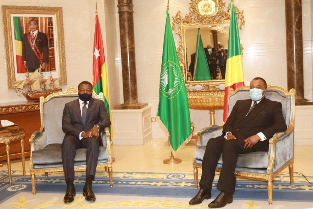 Le Président de la République Faure Essozimna Gnassingbé a effectué ce 18 février 2021, à Brazzaville en République du Congo une visite de travail et d'amitié.