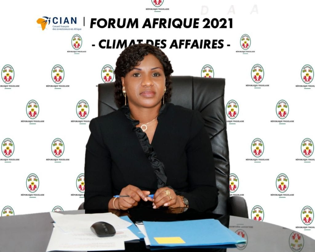 La Ministre, Secrétaire générale de la Présidence de la République, Mme Sandra Ablamba Johnson a pris part, ce jeudi 18 mars 2021, par visioconférence, au Forum Afrique 2021 du CIAN, Conseil des investisseurs français en Afrique.