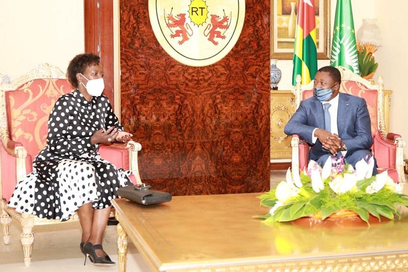 Le Président de la République, Faure Essozimna Gnassingbé s'est entretenu ce 26 mars 2021 avec Mme Louise Mushikiwabo, Secrétaire générale de l'Organisation internationale de la francophonie (OIF), en visite de travail dans notre pays.