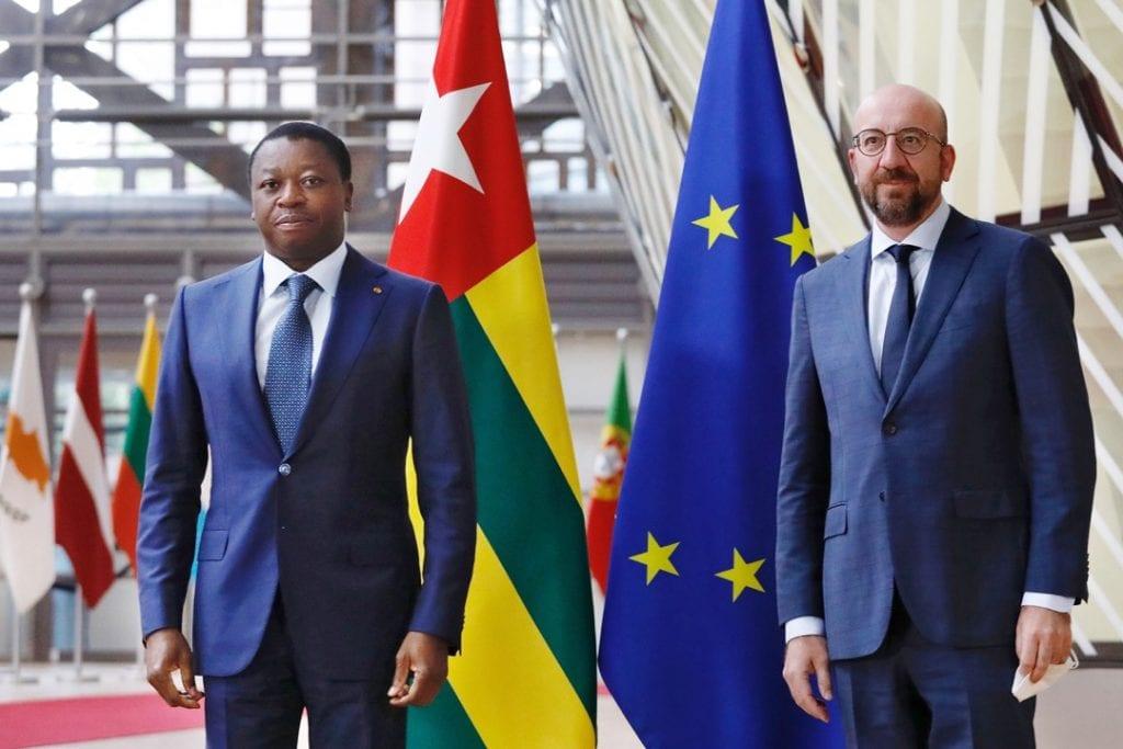 En visite officielle à Bruxelles en Belgique, le Président de la République Faure Essozimna Gnassingbé s'est entretenu, ce 20 mai 2021, avec le président du Conseil européen, Charles Michel.