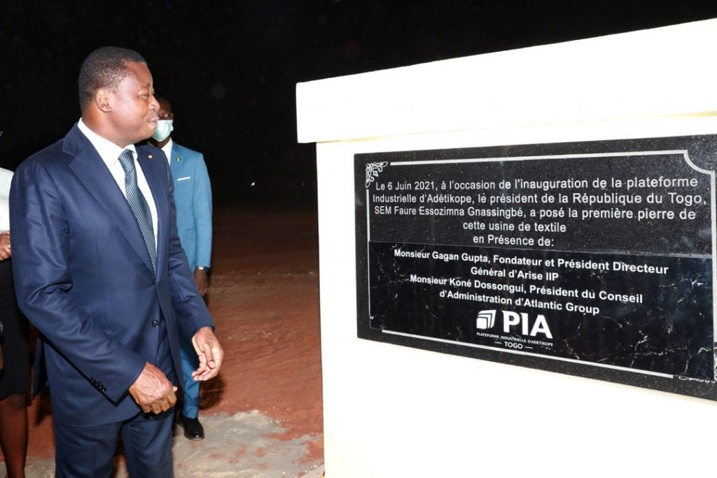 Le Président de la République Faure Essozimna Gnassingbé a procédé ce 06 juin 2021 à l'inauguration de la Plateforme industrielle d'Adétikopé (PIA)