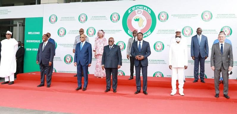 Le Président de la République Faure Essozimna Gnassingbé participe, ce samedi 19 juin 2021 à Accra au Ghana, aux travaux de la 59è session ordinaire de la Conférence des Chefs d'Etat et de Gouvernement de la Communauté Economique des Etats de l'Afrique de l'Ouest (CEDEAO).