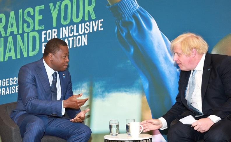 Le Président de la République Faure Essozimna Gnassingbé en séjour à Londres dans le cadre du sommet mondial sur l'éducation s'est entretenu ce 29 juillet 2021 avec le Premier ministre britannique, Boris Johnson. Les deux hautes personnalités ont évoqué des sujets d'ordre bilatéral et des questions internationales notamment la sécurité sous-régionale.